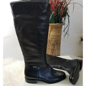 COLE HAAN Grand. OS Calissa Black Riding Boots